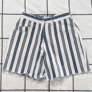 Striped Cut Off Shorts